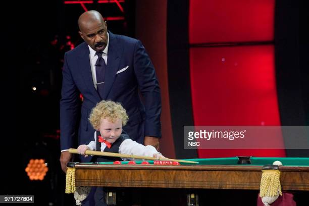 SHOTS 'Little Ninja Warrior' Episode 308 Pictured Steve Harvey Adam Wynne