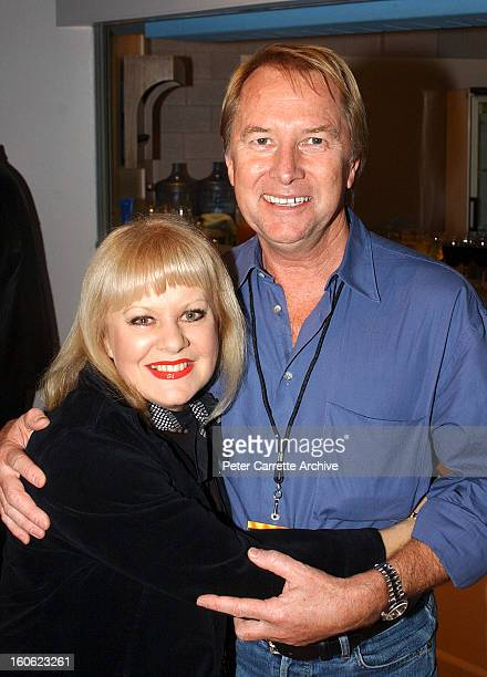 Little Pattie and Glenn Wheatley backstage during the 'Long Way To The Top' concert tour at the Sydney Entertainment Centre on September 14 2002 in...