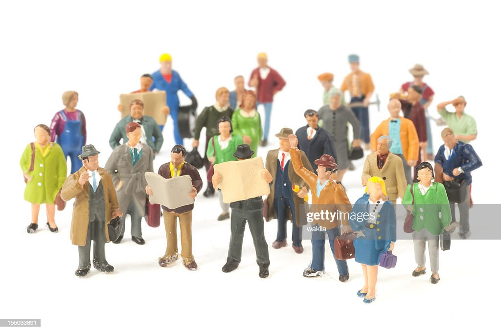 Little People Crowd Figurines High Res Stock Photo Getty