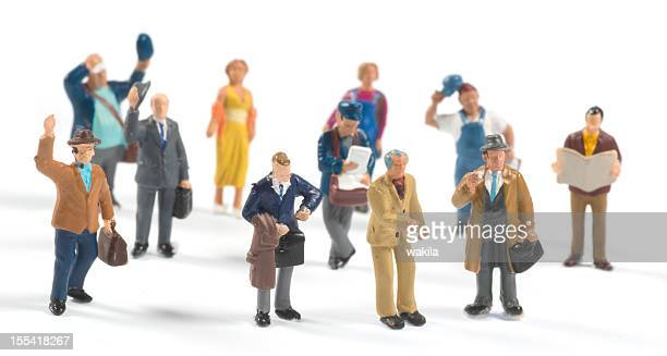 little people on white background