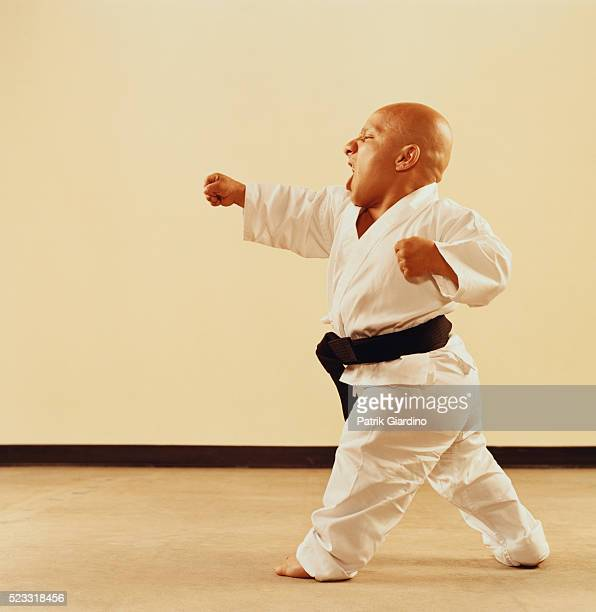 Little Person Doing Karate