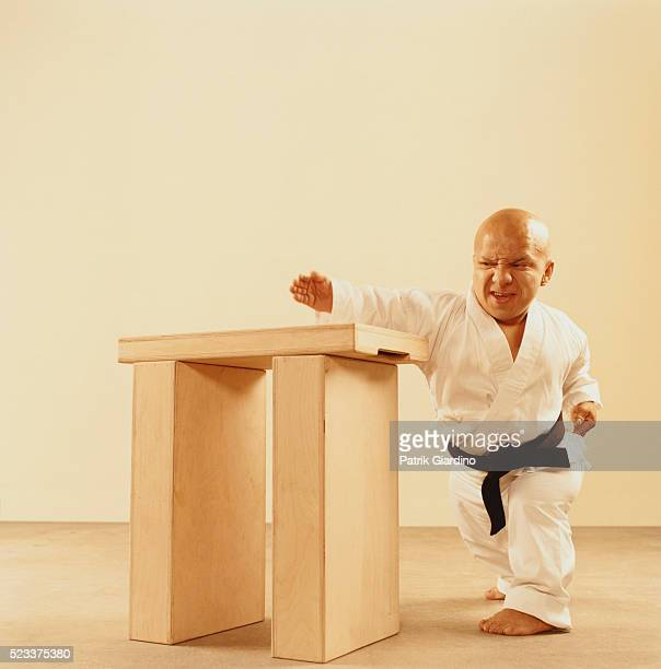 Little Person Doing Karate Trick