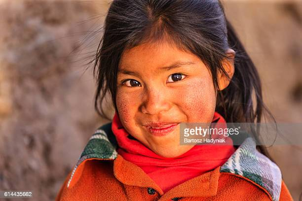 Little Peruvian girl near Canion Colca, Arequipa, Peru
