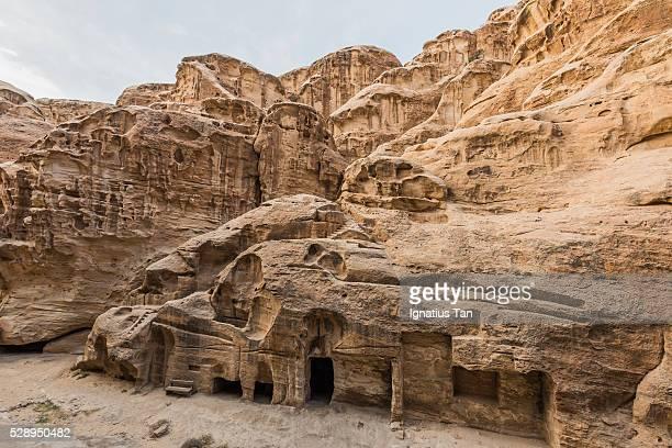 little petra (al beidha, siq al-barid), jordan - ignatius tan stock photos and pictures