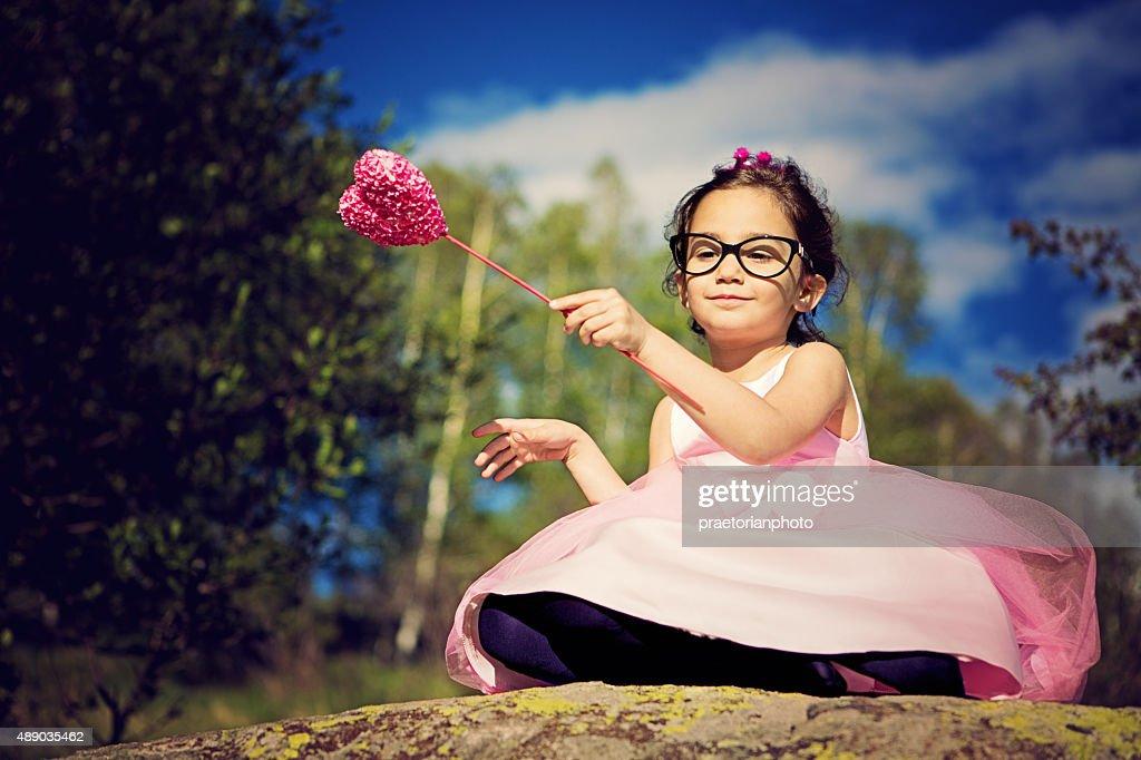 Little pink princess : Stock Photo