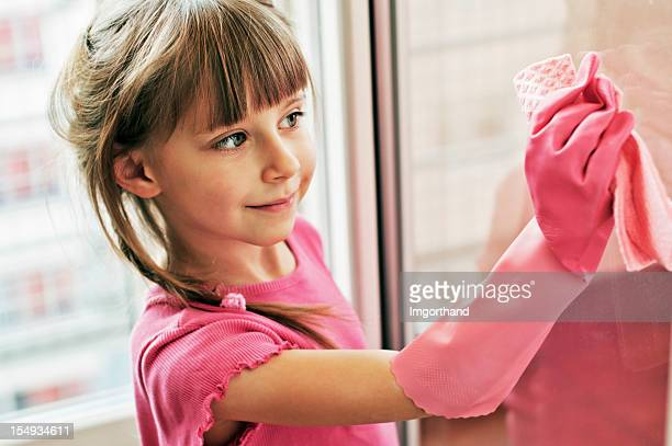 Little pink window cleaner