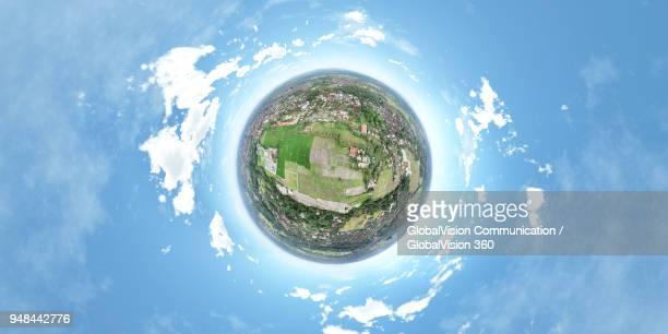 360° Little Planet above Ubud in Bali, Indonesia