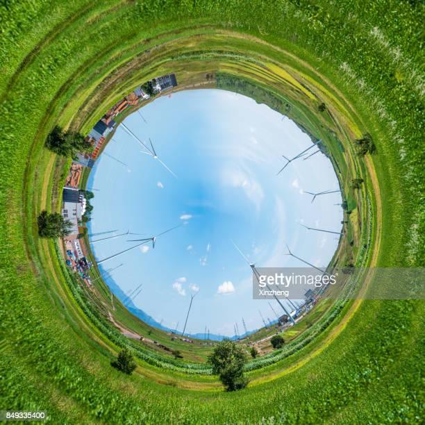 Little Planet Effect, Grassy Field