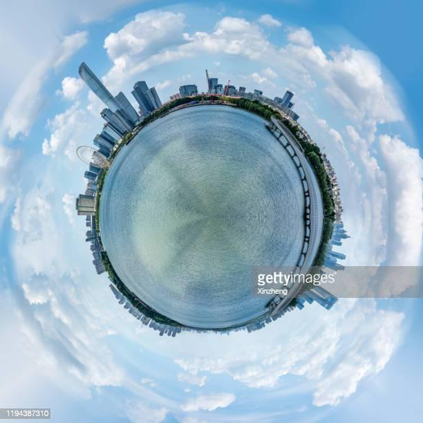little planet effect - belleza de la naturaleza fotografías e imágenes de stock