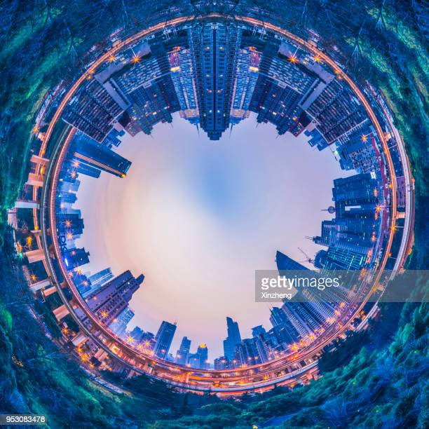 little planet effect - little planet format stock photos and pictures