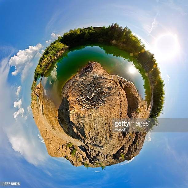 Little planet. Spherical panoramic view