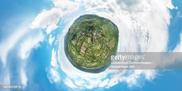 360° Little Planet View of San Vicente in El Salvador