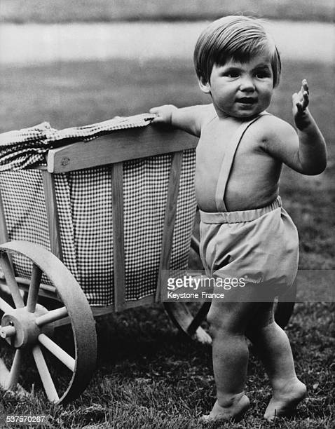 Little Prince Maurits son of Princess Margriet is 1 year old in the garden of the Loo Castle on September 10 1969 in Apeldoorn Netherlands