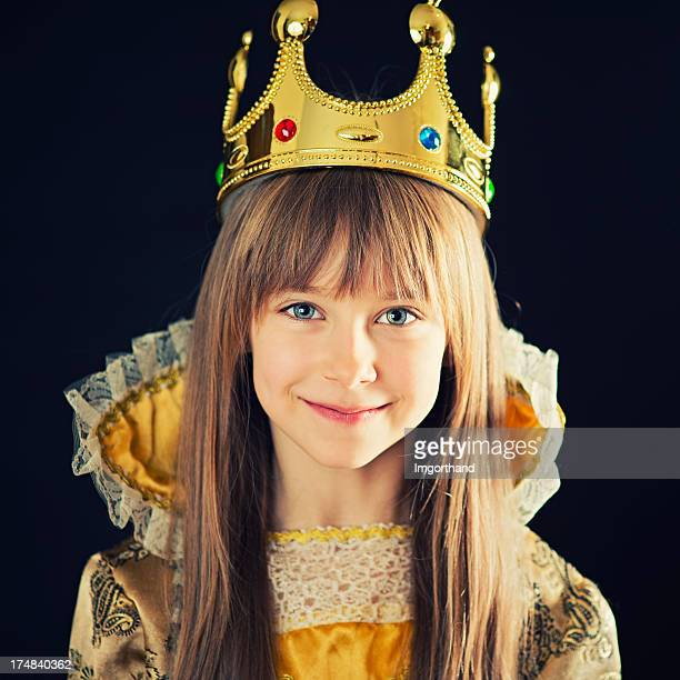 little princess - medieval queen crown stock pictures, royalty-free photos & images