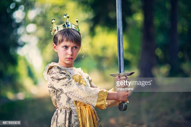 little princess that does not need saving - medieval queen crown stock pictures, royalty-free photos & images