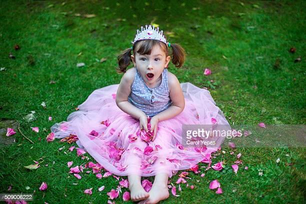 little princess with pink tutu