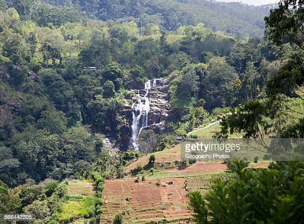 Little Rawana or Ravana Falls waterfall Ella Badulla District Uva Province Sri Lanka Asia