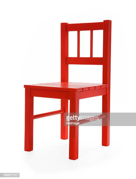 little red chair la - chair stock pictures, royalty-free photos & images