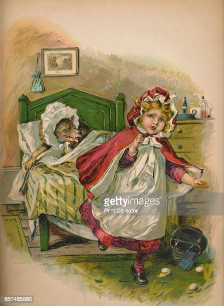 Little Red Riding Hood' 1903 From A Peep into Fairyland by E F C Manning [Frederick Warne Co London New York 1903] Artist Unknown