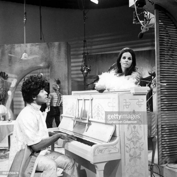 Little Richard and Claudine Longet performs on This Is Tom Jones TV show in circa 1970 in Los Angeles California