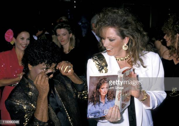 Little Richard and Jackie Collins during Jackie Collins Book Party at Tramps in New York City NY United States