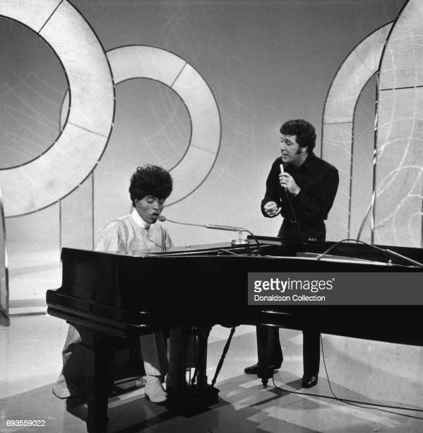 Little Richard and Tom Jones performs on This Is Tom Jones TV show in circa 1970 in Los Angeles California