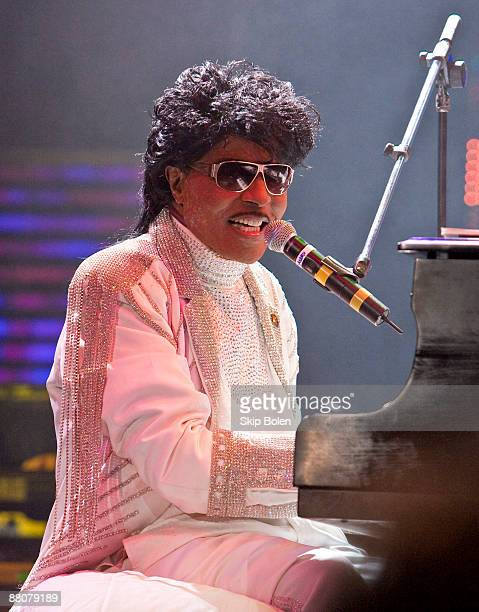 Little Richard performs during the Domino Effect benefit concert at the New Orleans Arena on May 30 2009 in New Orleans Louisiana