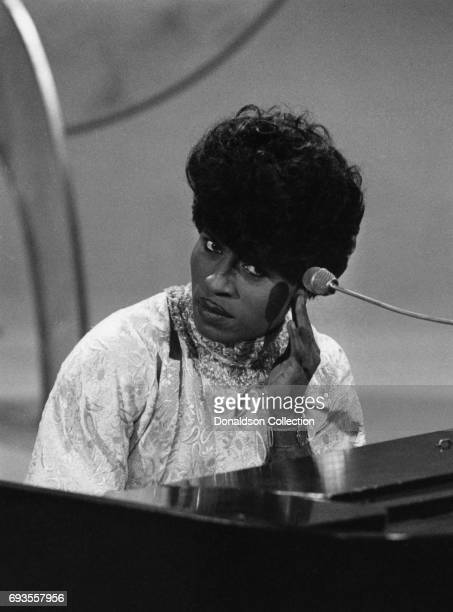 Little Richard performs on This Is Tom Jones TV show in circa 1970 in Los Angeles California