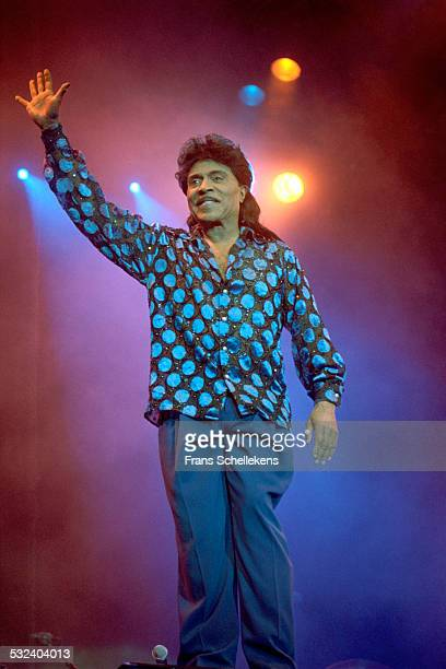 Little Richard, piano and vocals, on July 123th 1999 at the Statenhal in the Hague, Netherlands.