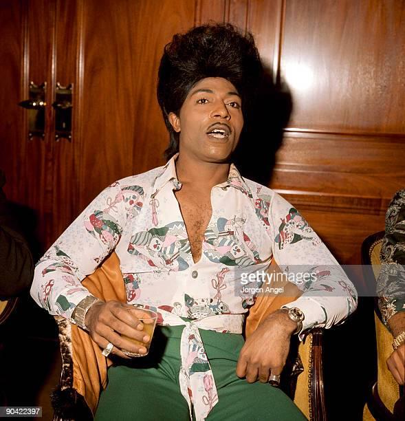 Little Richard poses at a hotel in 1975 in Copenhagen, Denmark.