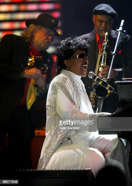 Little Richard preforms during the Domino Effect Benefit Concert at the New Orleans Arena on May 30 2009 in New Orleans Louisiana