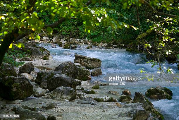 Little river in the alpes