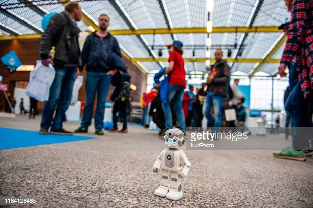 A little robot is seen walking around the place during the Bright Day Festival in Amsterdam on November 23rd 2019