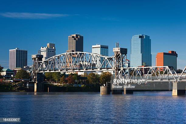 little rock, arkansas, city view - arkansas stock pictures, royalty-free photos & images