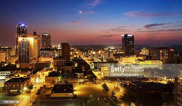 little rock sunset - arkansas stock photos and pictures