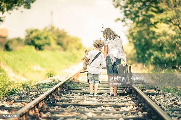 Little runaways running away from home