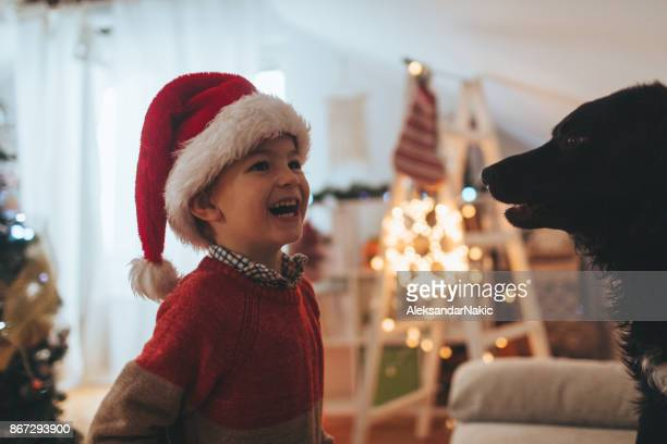 Little Santa and his dog