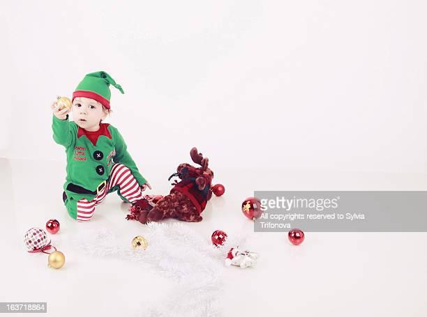 Little Santa Helper. Christmas image.