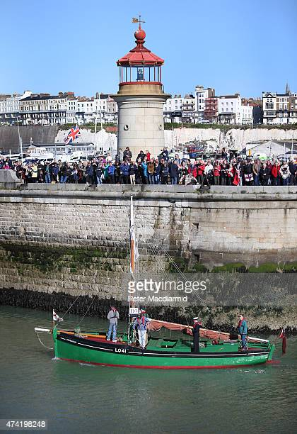 A 'Little Ship' departs from Ramsgate harbour for Dunkirk on May 21 2015 in England In 1940 a flotilla of privately owned small boats known as the...