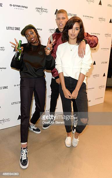 Little Simz and Ashley Sky attend the Little Simz x GStar RAW instore album launch for 'A Curious Tale of Trials Persons' on September 16 2015 in...