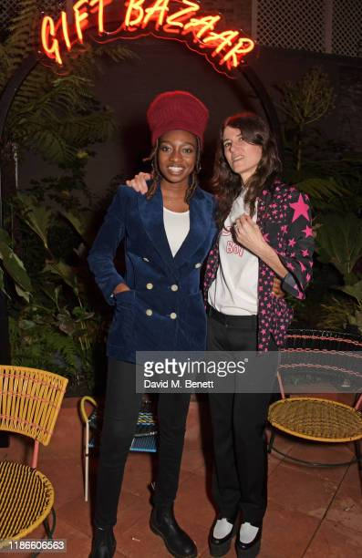Little Simz and Bella Freud attend the MATCHESFASHION X Bella Freud Musical Matches event at 5 Carlos Place featuring a special performance by Little...