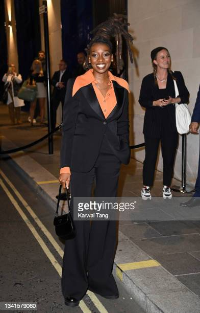 Little Simz attends the British Vogue x Tiffany & Co. Fashion and Film party at The Londoner Hotel on September 20, 2021 in London, England.
