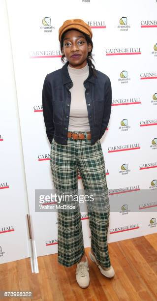 Little Simz attends The Children's Monologues at Carnegie Hall on November 13 2017 in New York City