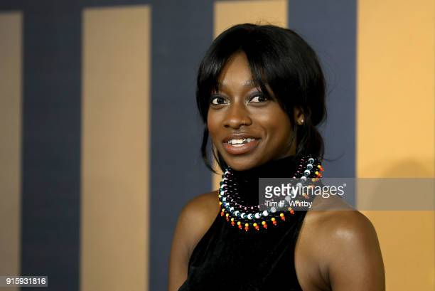 Little Simz attends the European Premiere of 'Black Panther' at Eventim Apollo on February 8 2018 in London England