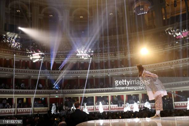 Little Simz on stage during The Fashion Awards 2019 held at Royal Albert Hall on December 02 2019 in London England