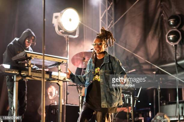 Little Simz performs on stage on the first day of TRNSMT Festival 2021 on September 10, 2021 in Glasgow, Scotland.