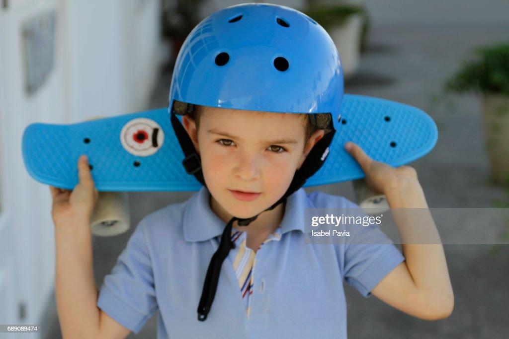 Little skateboarder : Stock Photo