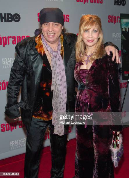 Little Steve Van Zandt and Maureen Van Zandt during The Sopranos Sixth Season New York City Premiere Arrivals at MoMA 53rd Street in New York City...