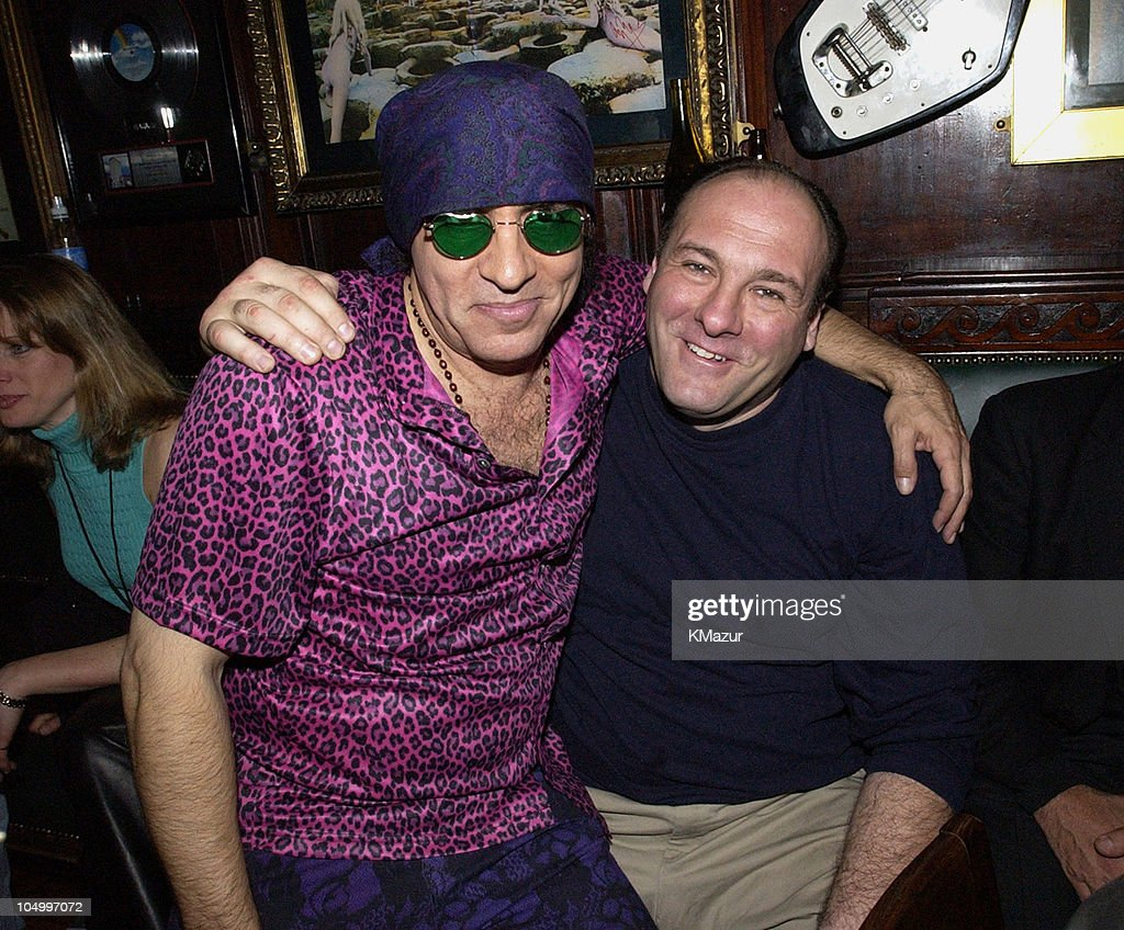 Little Steven Van Zandt and James Gandolfini during Hard Rock Cafe Presents 'Little Steven's Underground Garage' radio show at the Hard Rock Cafe in NYC at Hard Rock Cafe NYC in New York City, New York, United States.