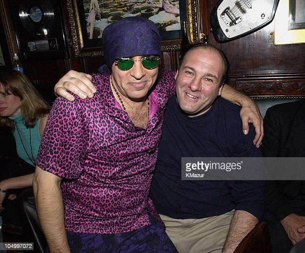 Little Steven Van Zandt and James Gandolfini during Hard Rock Cafe Presents Little Steven's Underground Garage radio show at the Hard Rock Cafe in...
